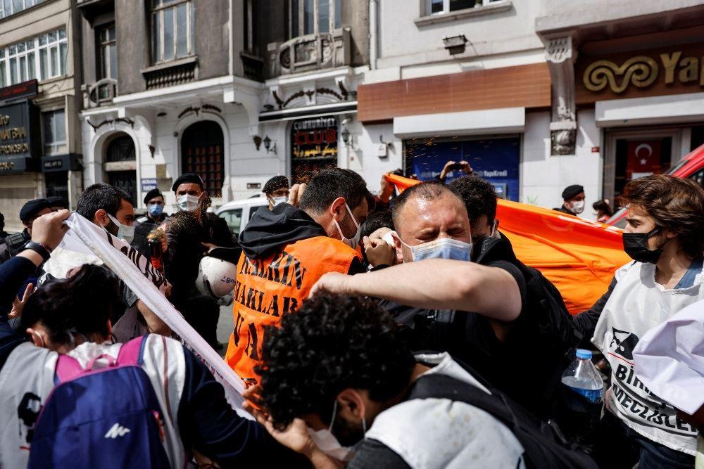 ballede på gaden i Istanbul