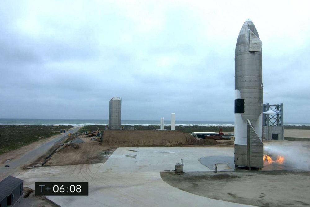 en raket på landjorden