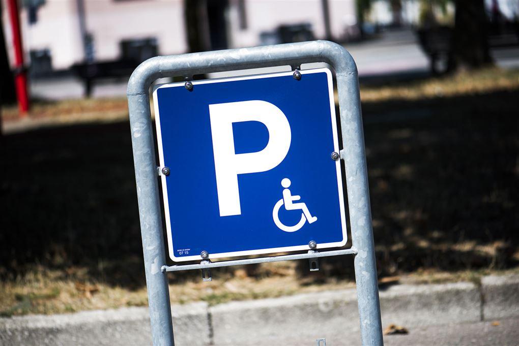 Et handicap-skilt