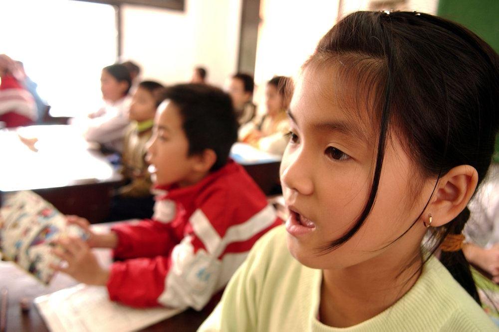 Kinesiske børn i en klasse