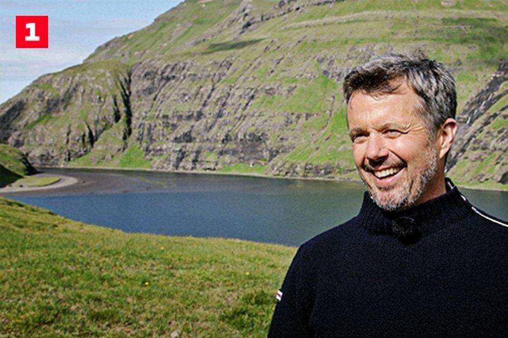 En smilende kronprins Frederik på Færøerne