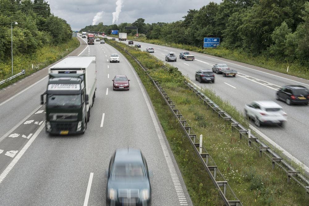 Trafik på motorvej