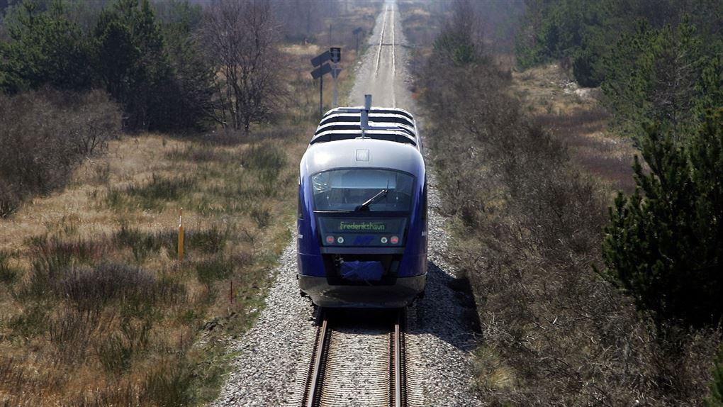 billede af tog på Skagensbanen