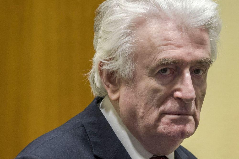 Radovan Karadzic i retten