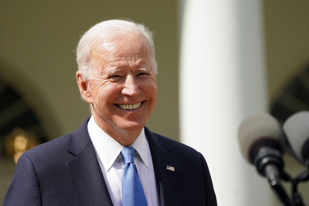 Joe Biden uden mundbind