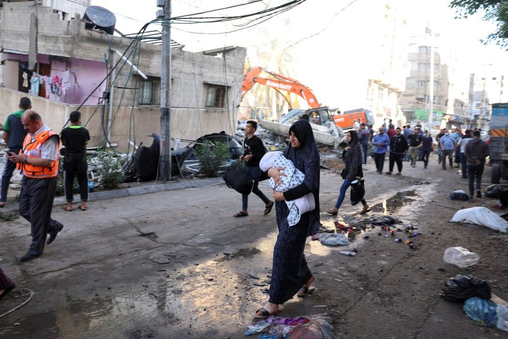 Bombehærget gade i Gaza