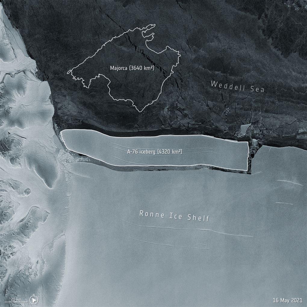 satellitbillede fra antarktis