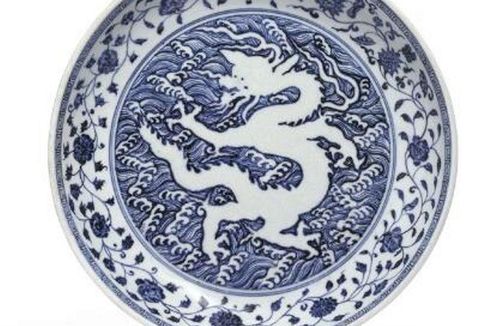 kinesisk mingfad med dragesymbol
