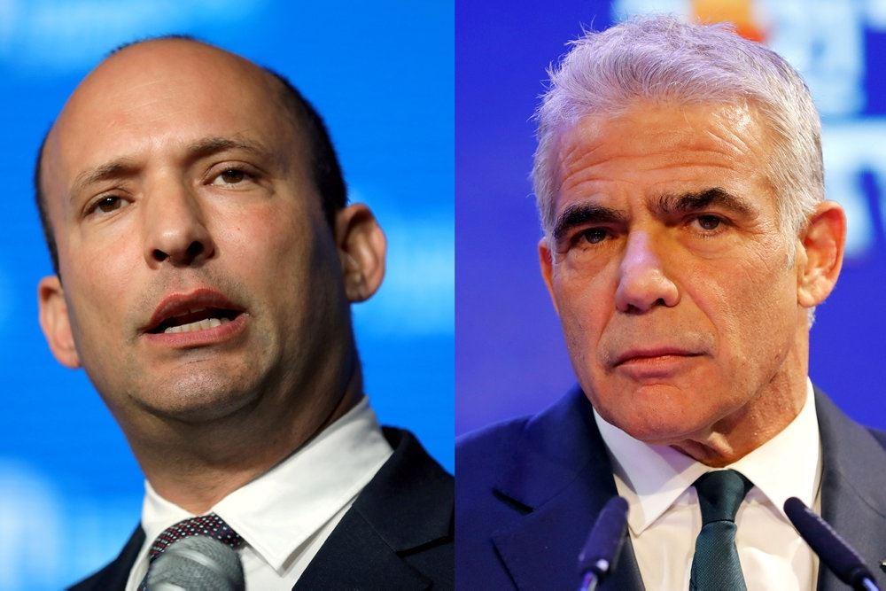 sammensat billede af to israelske politikere