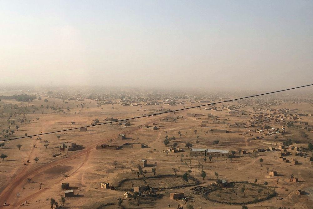 Luftfoto af byen Djibo