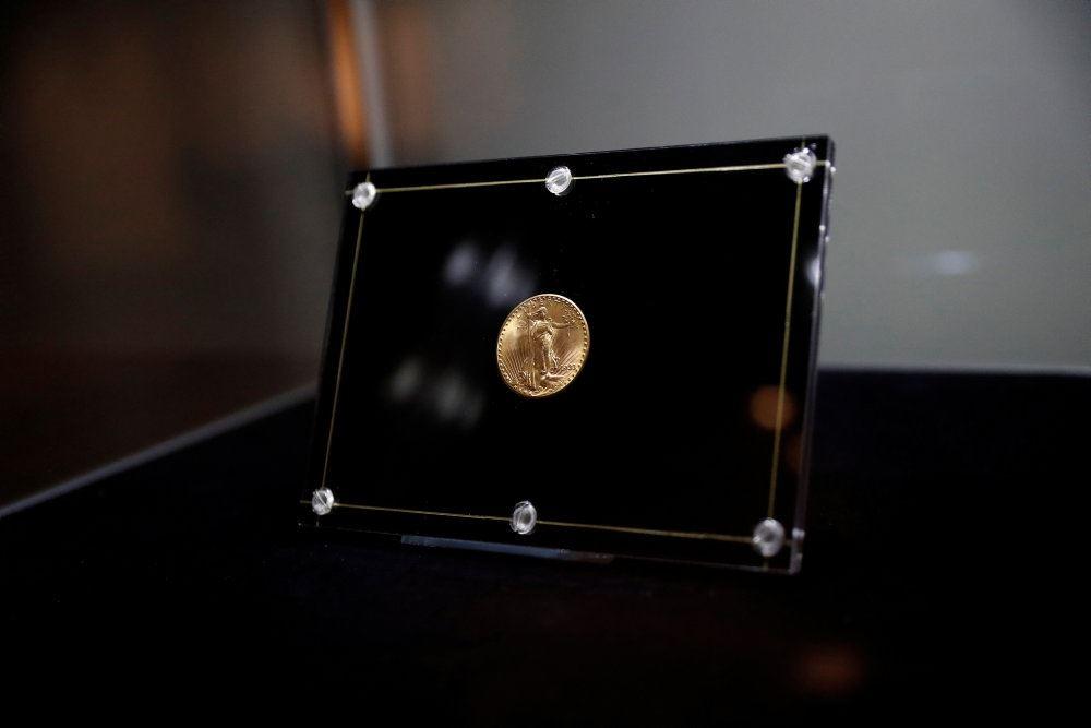 En mønt i en montre