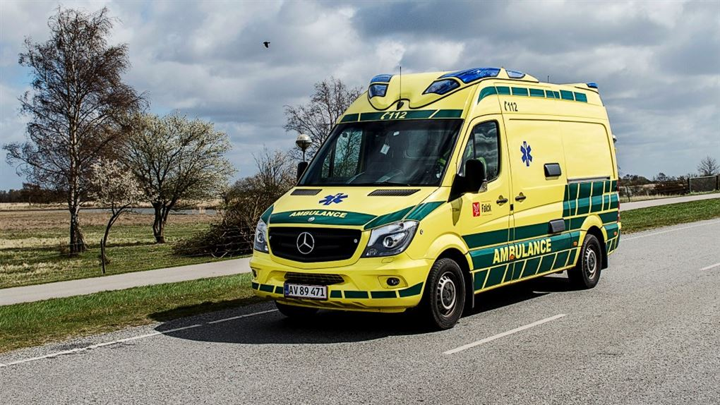 billede af ambulance