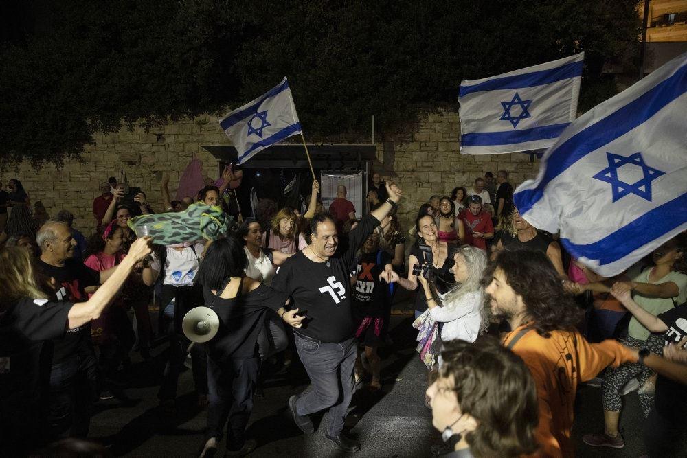 demonstranterne ses samlet