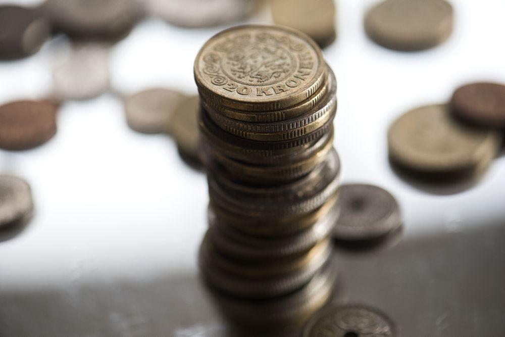 mønter stablet