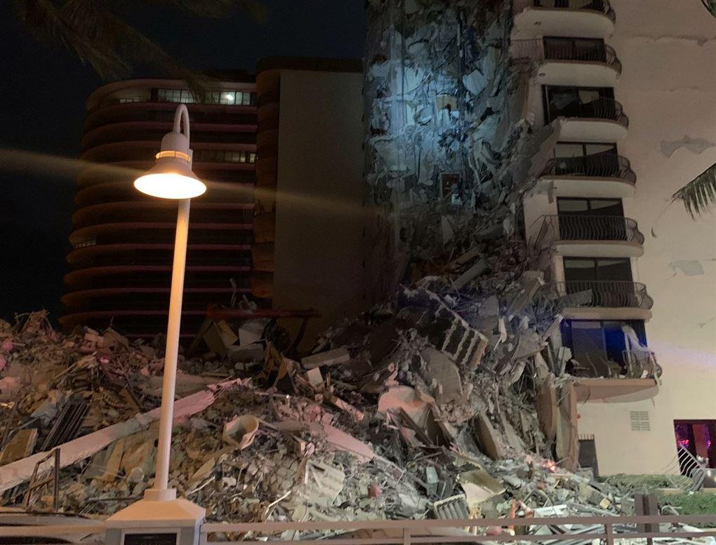 kollapset bygning