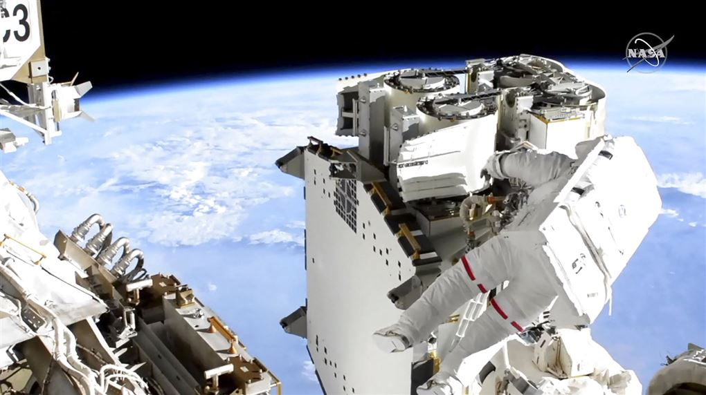 astronaut på rumvandring