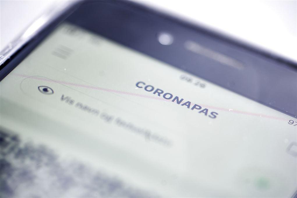 coronapas på mobil