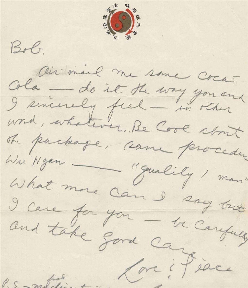 Et håndskrevet brev