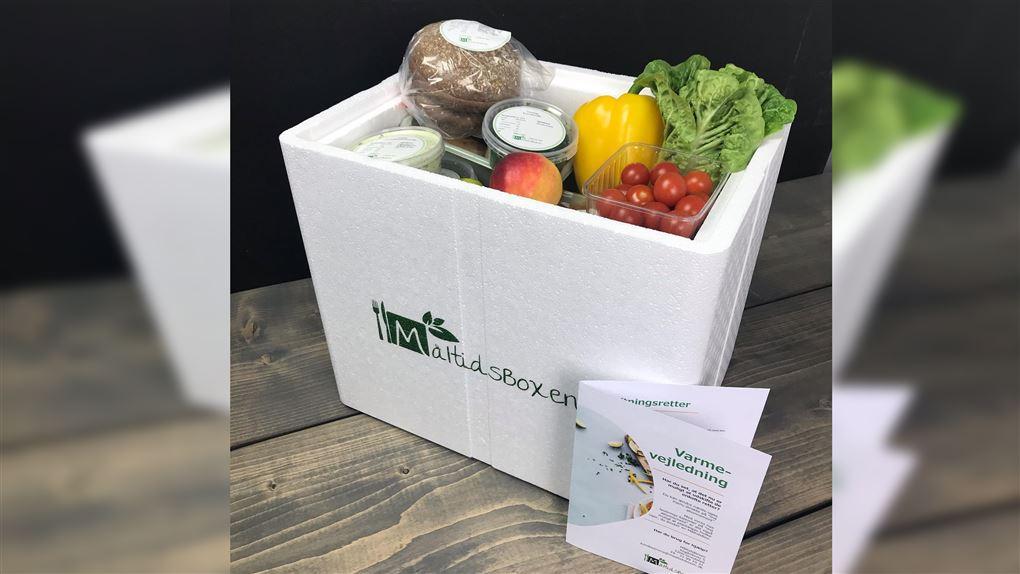 billede af en boks med mad