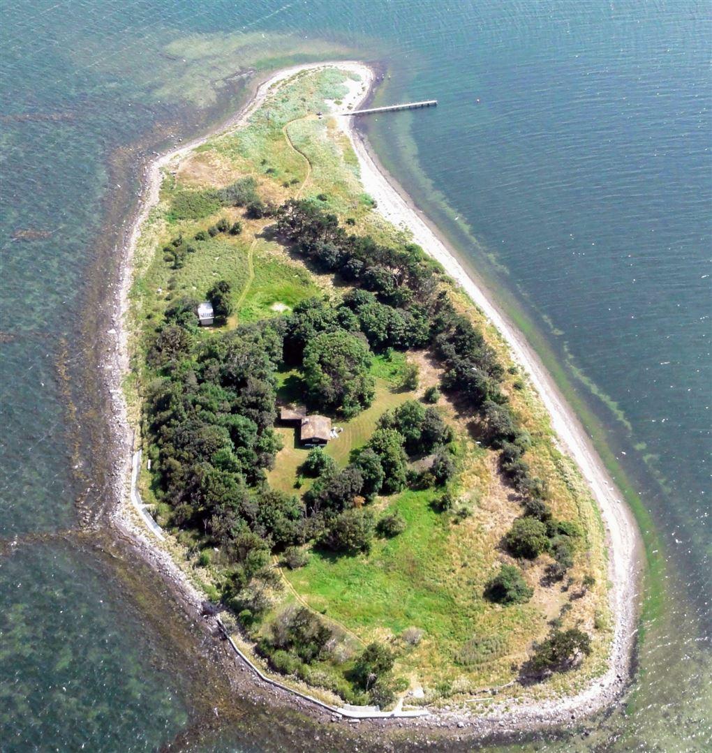 Luftbillede af ø