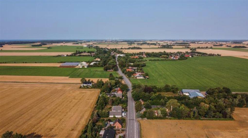 En landsby set fra luften
