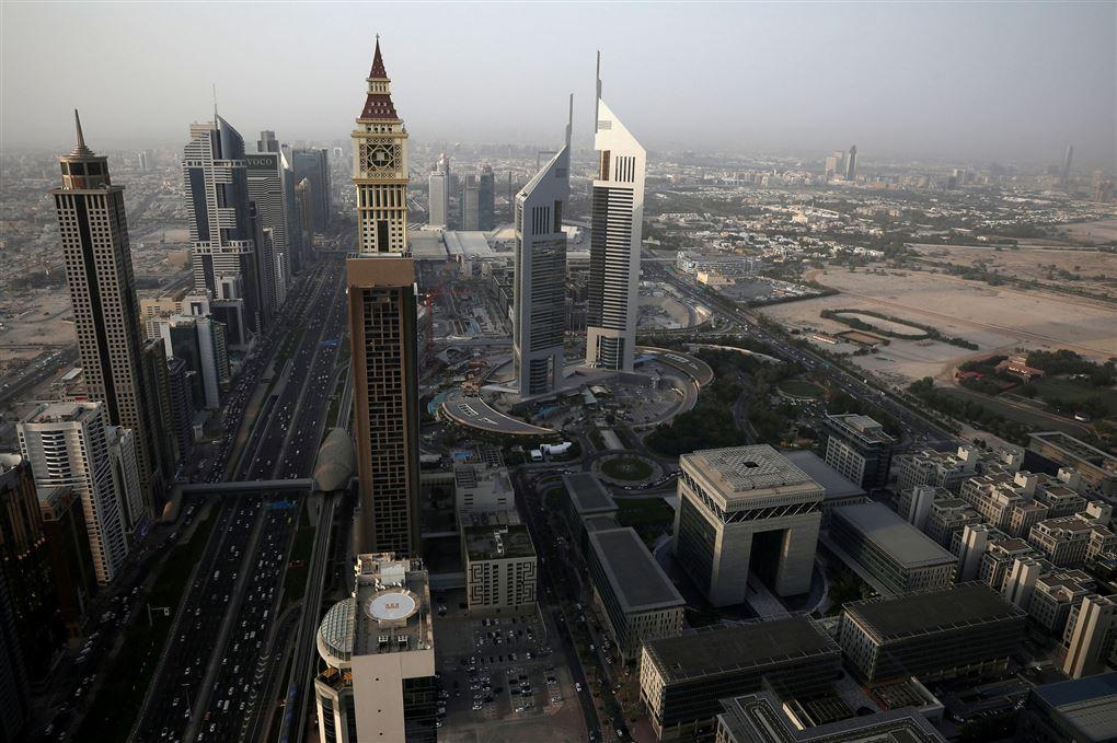 Dubai set fra oven