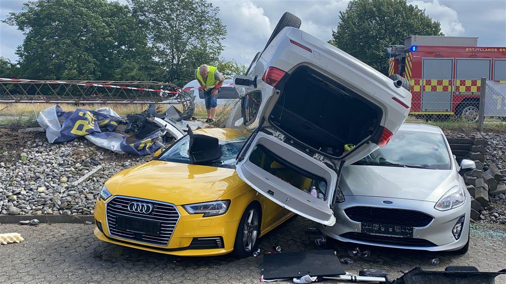 den forulykkede bil
