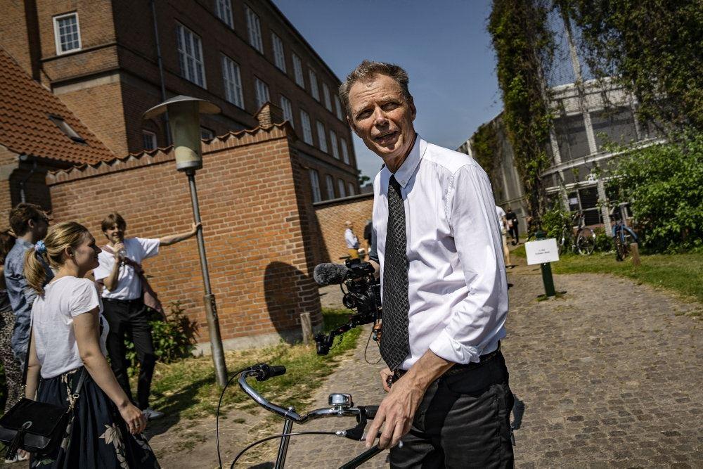 Klaus Riskær med cykel