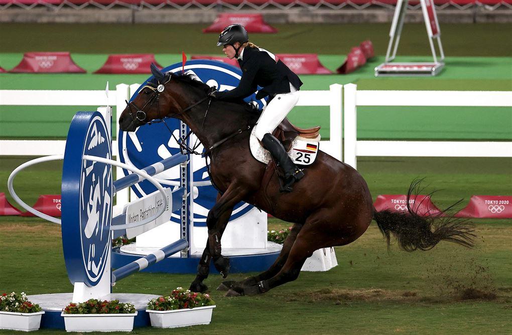 hest i gang ridebanespringning