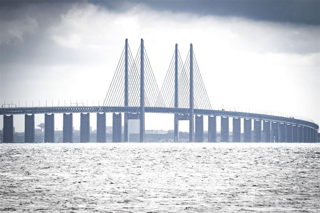 øresundsbroen set fra land