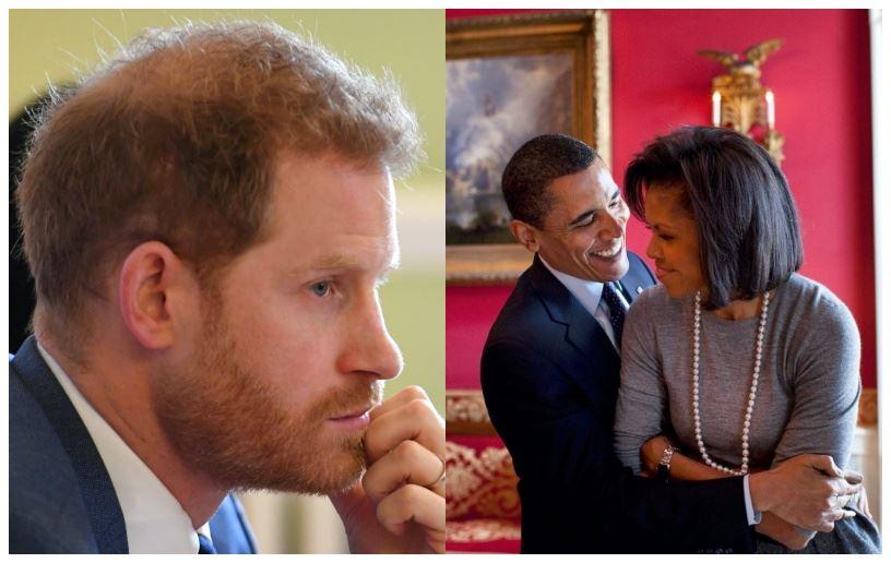 En trist prins Harry og to glade mørke mennesker ved siden af