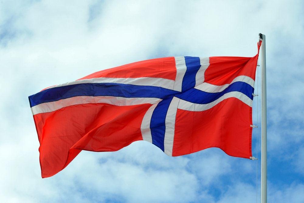 Det norske flag vajrer