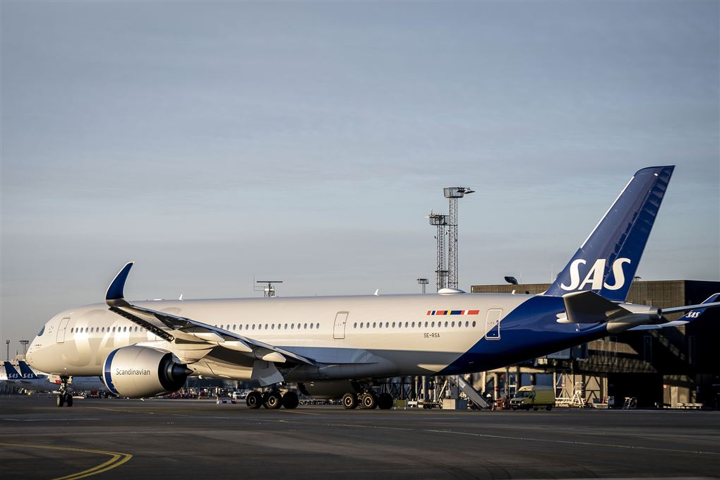 sas-fly holder i lufthavn