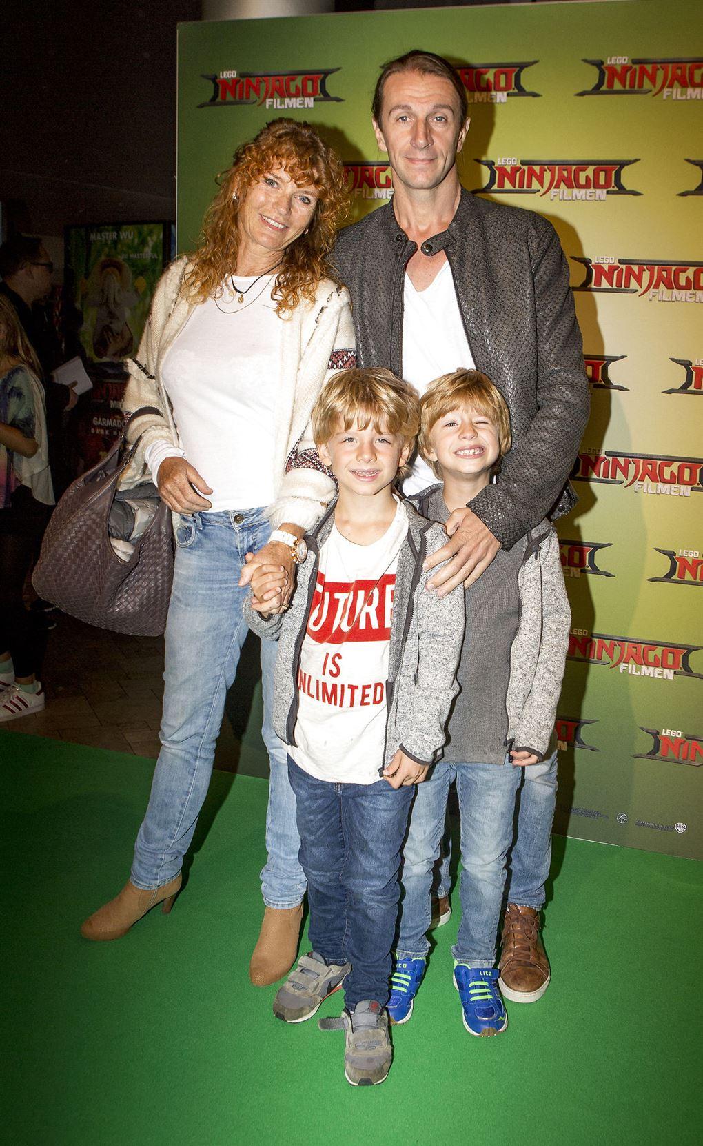 Bettina Aller med familien