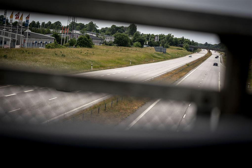 motorvej set fra bro