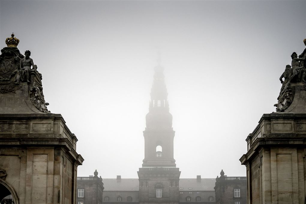 Christiansborg i tæt tåge