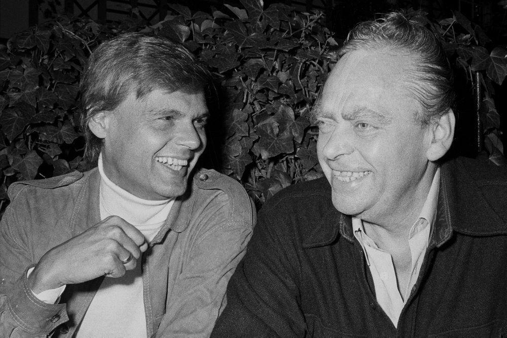 Ulf og Preben Kaas på sorthvidt billede
