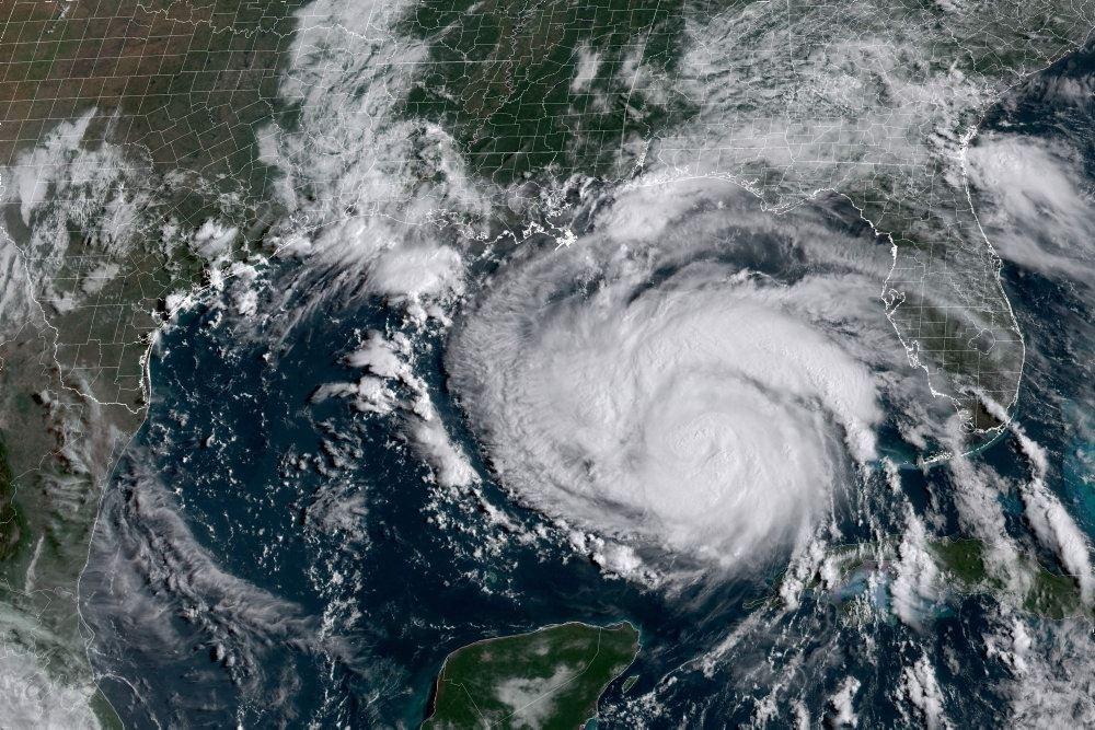 Vejrbillede af orkan