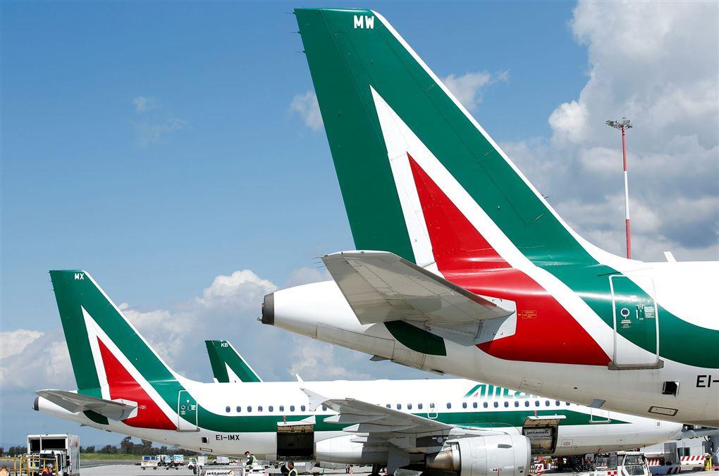 Halerorene på Alitalia-fly