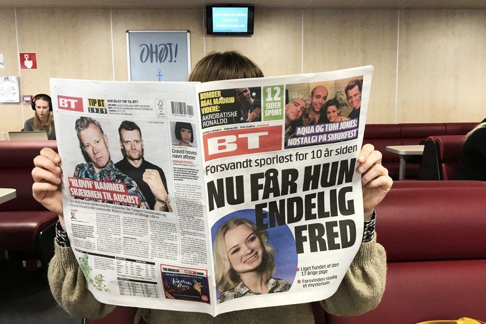 billede af en avis