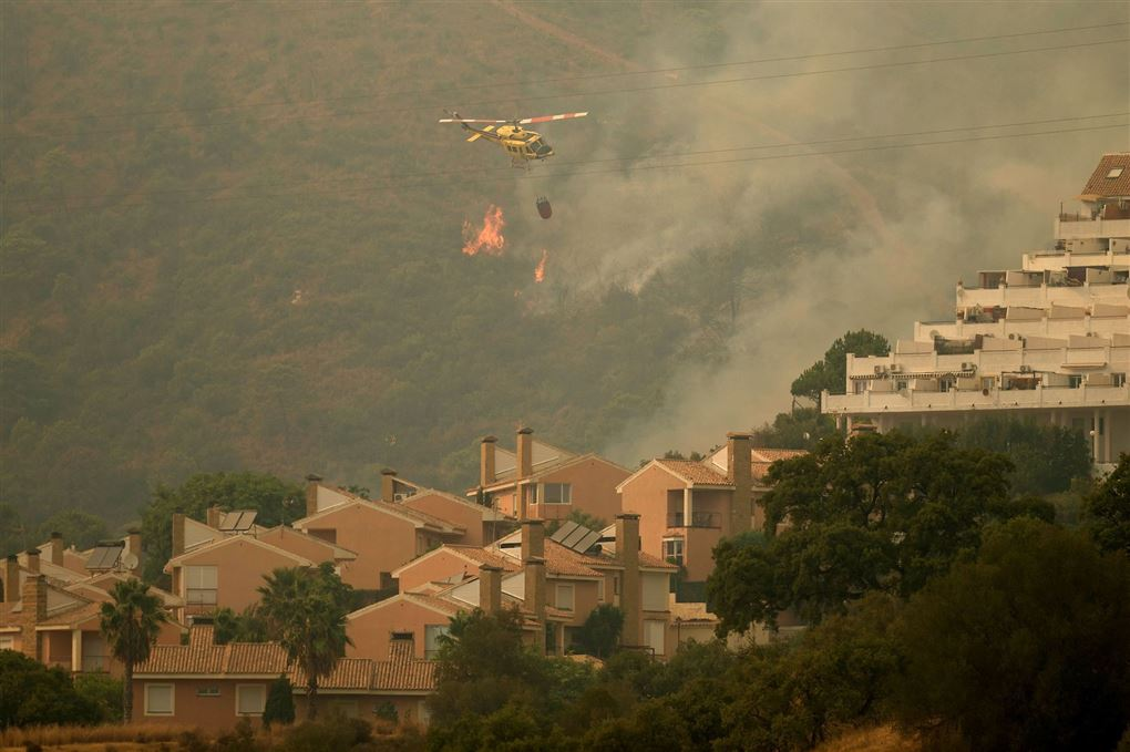 brand på bjergkæden Sierra Bermeja ved Estepona.