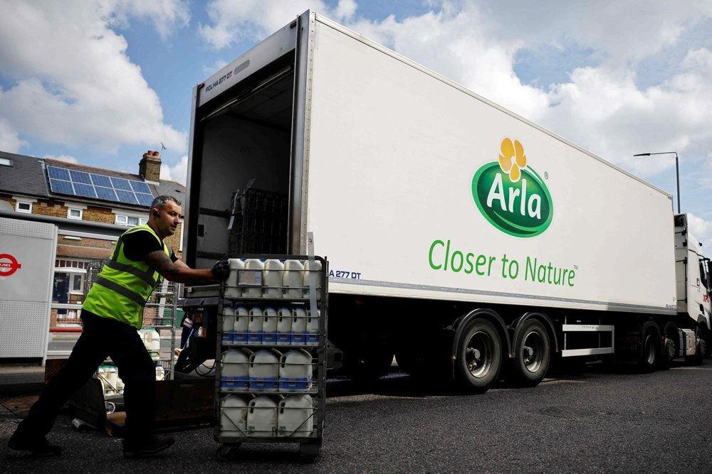 Lastbiler fra Arla