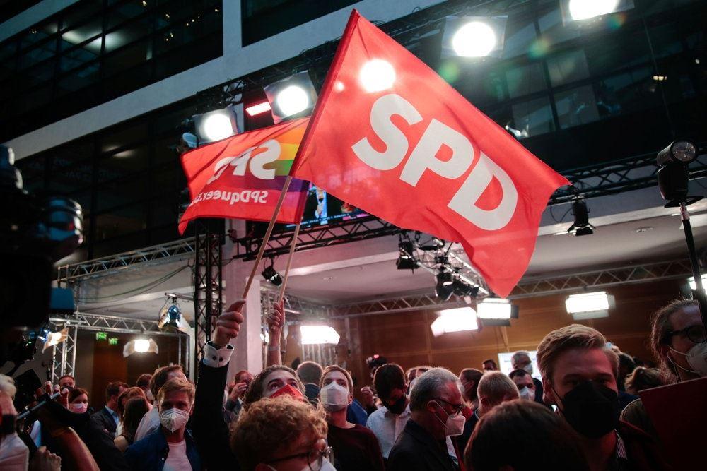 Flag fra de to store partier