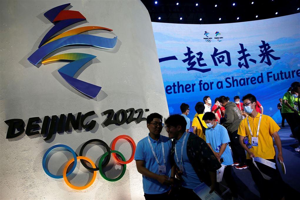 skilt med logo for Vinter-OL
