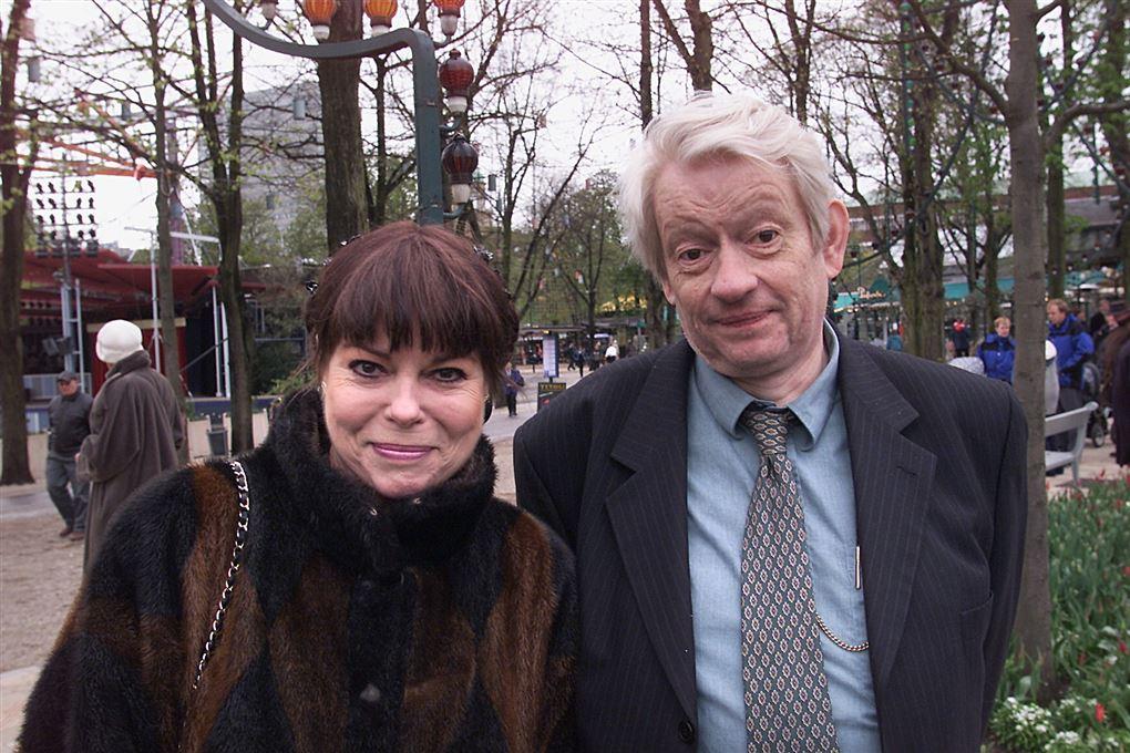 Lykke Nielsen og Jesper Klein fotograferet i Tivoli.