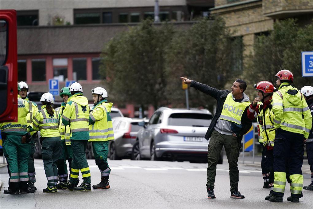 politi på gaden i göteborg
