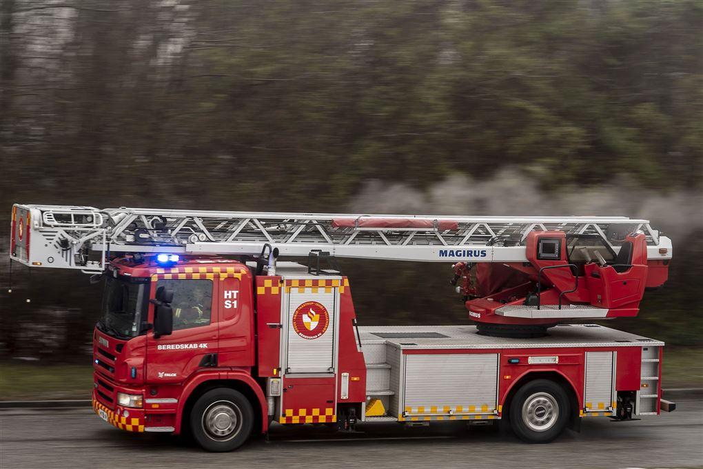 brandbil under udrykning