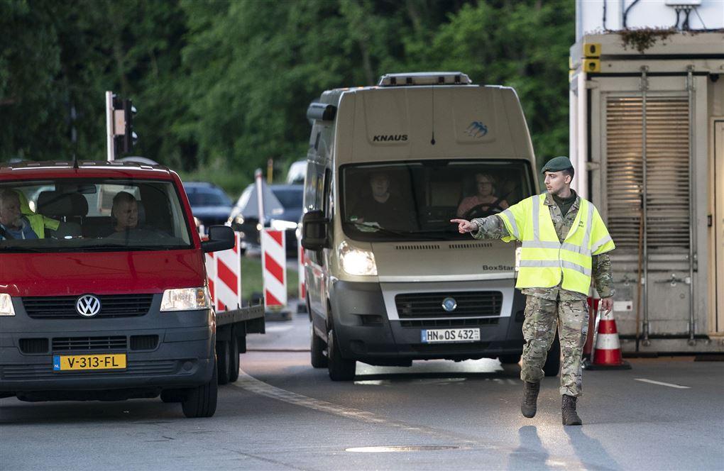 kontrol ved dansk-tyske grænse