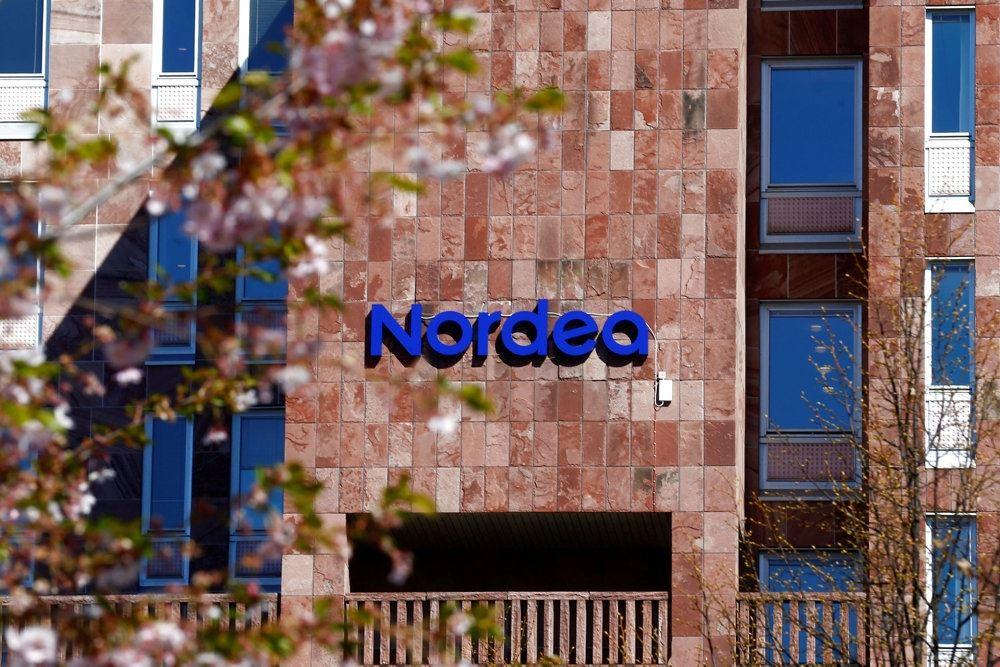 En facade med Nordea på