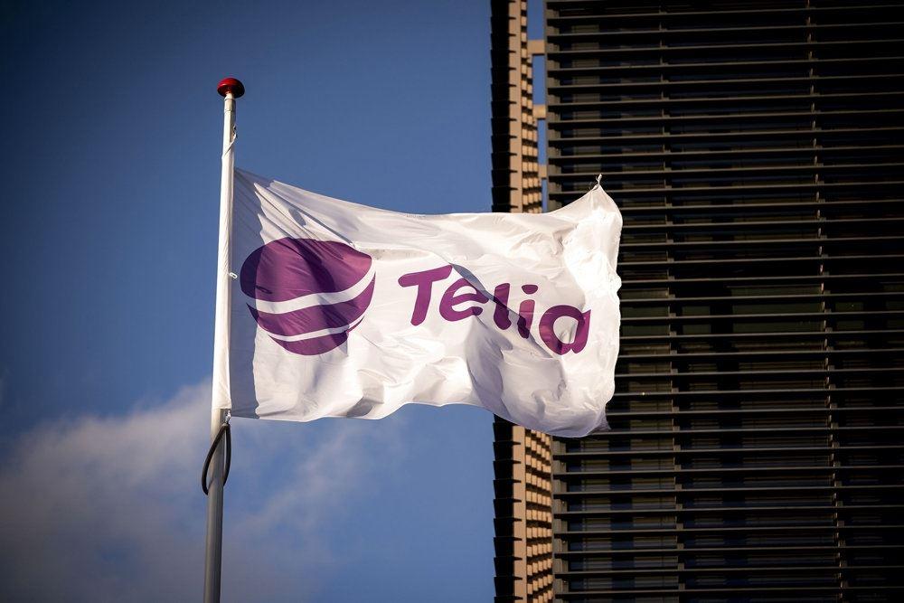 et flag med Telia